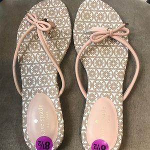 NWOT Kate spade pink mystic  flip flop sandals